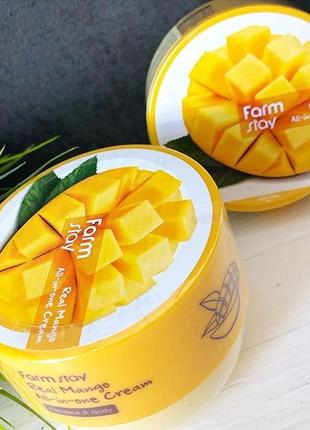 Крем для лица и тела с манго farmstay real mango all-in-one cream - 300 мл