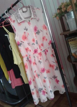 Легкое летнее платье цветочный принт george