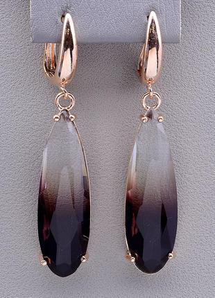 Серьги 'pataya' фианит (позолота 18к)  0799970