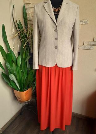 Шикарный стильный пиджак на подкладке большого размера /next-оригинал/шерсть
