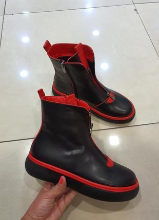 Кожаные демисезонные ботинки, турция