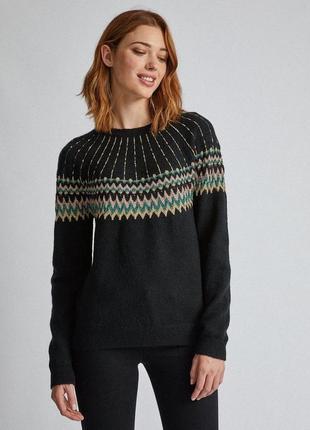 Красивый мягкий свитер со скандинавским узором dorothy perkism