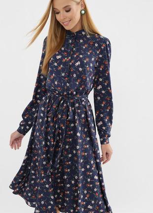 Платье женское миди в цветрчный принт