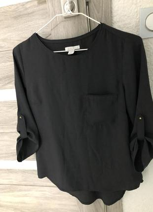 Блуза чёрная блузка рубашка