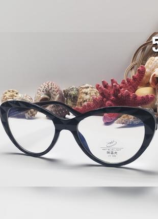 Имиджевые компьютерные очки кошечки в оправе в виде хрусталя