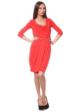 Новое платье манго mango нова сукня корралово-червона