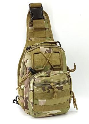 Тактическая сумка на плечо с карабином фастекс