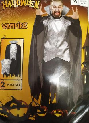 Мужской карнавальный костюм дракула вампир на хеллоуин