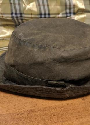 Шляпа , панама barbour ващенная  ( вакса )