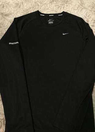 Nike dri-fit лонгслив спортивная кофта