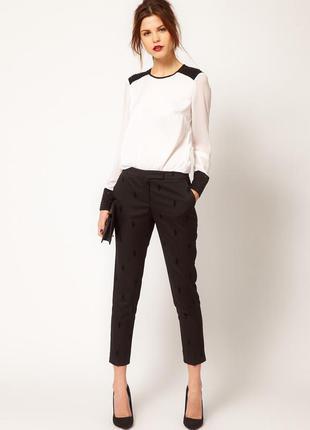 Чёрные укороченные брюки штаны dorothy perkins