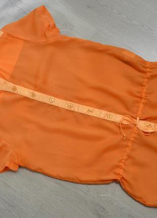 Яркая оранжевая блуза axara