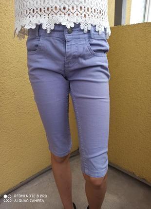 Катоновые качественные бриджы шорты на девочку рост 134