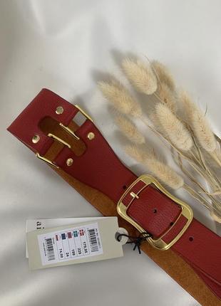 ❌ распродажа ❌ крутой красный широкий ремень пояс от aitem