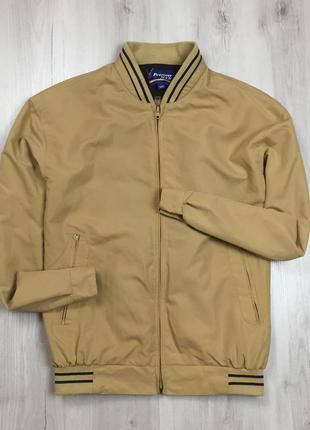 F9 винтажный бомбер premier man ветровка бежевая куртка курточка