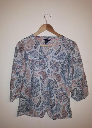 Рубашка, блуза, блузка без воротника h&m