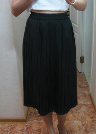 Купить черную юбку плиссе
