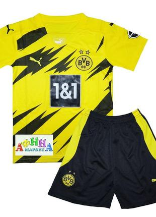 Детская футбольная форма боруссии дортмунд 20-21 домашняя puma  (3070)