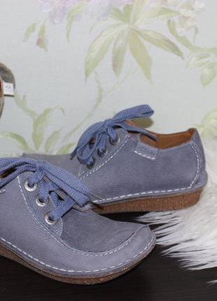 37 23,7см clarks кожаные туфельки на шнуровке