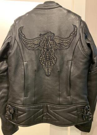 Байкерская, мотоциклетная, мото кожаная куртка diamond