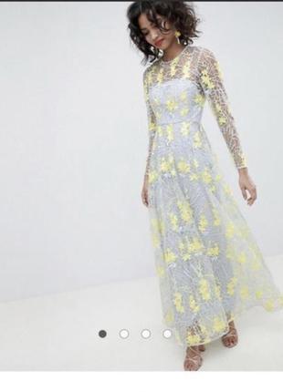 Вечернее нарядное выпускное платье asos