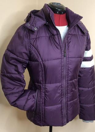 Куртка деми сиреневая куртка демисезонная дутая m l