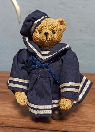 Мини статуэтка мишка - морячка, teddy, англия. винтаж.