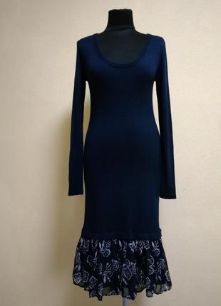 Max mara max&co нежное платье с шифоновым низом