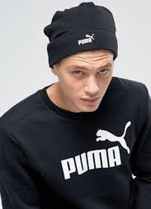 Теплая шапка puma ® ess big cat beanie