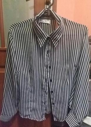 Блузка в полоску крепшифон