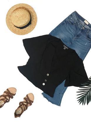 Шок-цена! ⚡️ чёрная трендовая блуза блузка primark 12 l 48