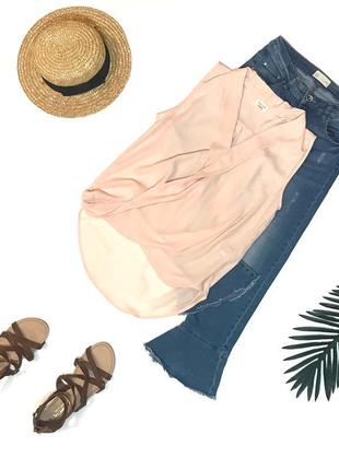 Шок-цена! ⚡️ нежная лёгкая блуза блузка под шифон river-island s 44