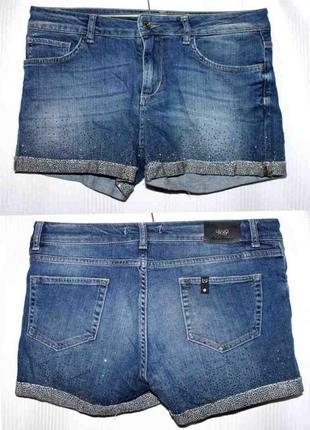 Шорты джинс стрейч высокая талия liu jo 46-50р