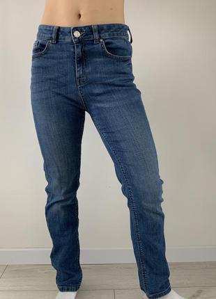 Джинсы классические, голубые удобные джинсы с плотного материала, прямые джинсы.