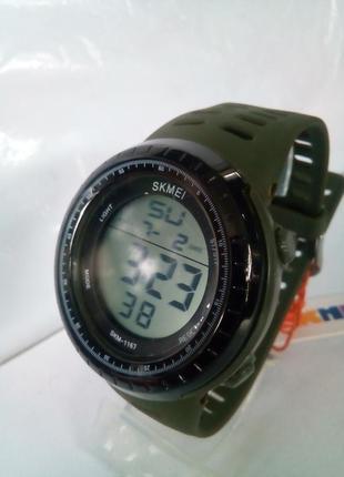 Водозащищенные мужские часы электронные skmei 1167 на ремешке