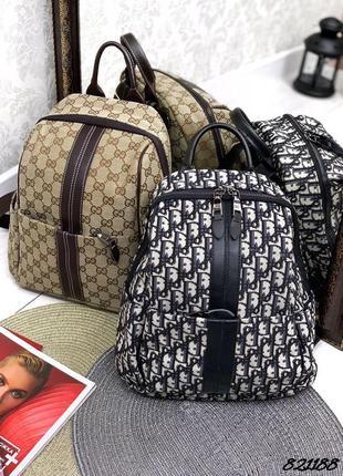 Текстильный брендовый рюкзак