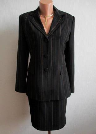 3 в 1 костюм тройка в полоску: пиджак, юбка, брюки