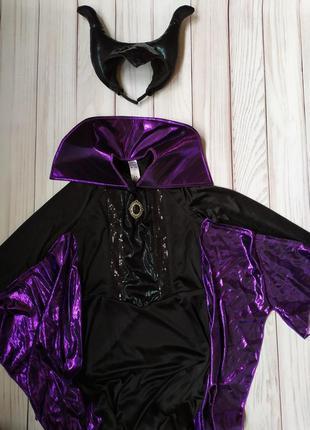 Платье малефисента 9-10 лет