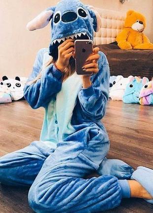 Пижама стич stitch цельная пижама детская пижама кигуруми пикачу единорог панда