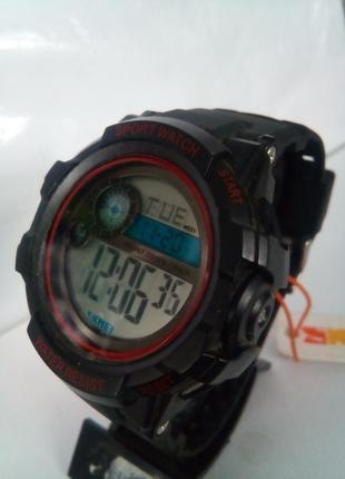Водозащищенные мужские часы электронные skmei 1387 на ремешке