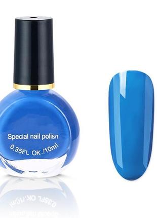 Лак для стемпинга kand nail 10 мл. голубой