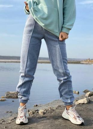 Теплющие спортивные штаны на флисе