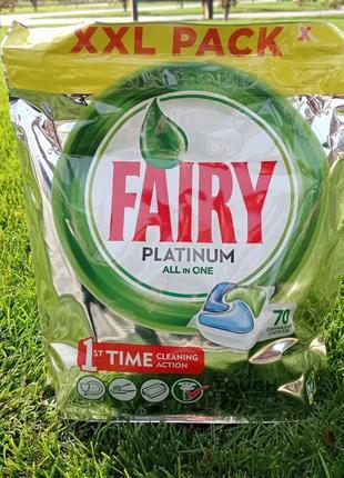 Капсулы для посудомоечных машин fairy platinum 70шт