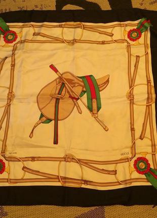 Шелковый платок gucci,100 % шелк,оригинал