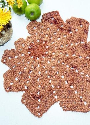 Мини коврик салфетка (38cм) из джута