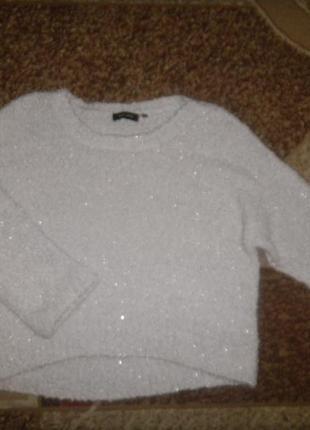 New look свитер сзади длинее,мягусенький,сама нежность ,р 14,цвет серебро
