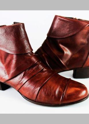 Итальянские супер мягкие кожаные ботиночки бренда everybody, демисезонные, р. 36-37