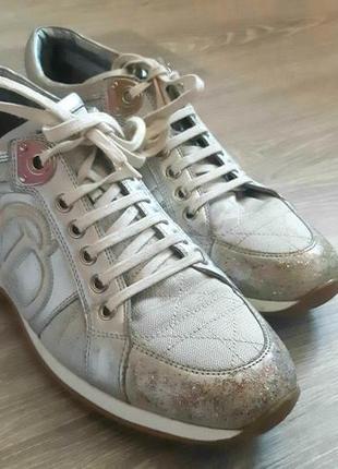 Кроссовки dior серебряные