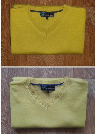 Кашемировый свитер британского бренда river island, сезон весна-осень, цвет лимонный, р. м