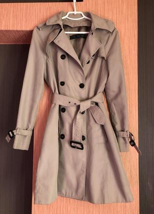 Тренч zara/плащ/бежевое пальто